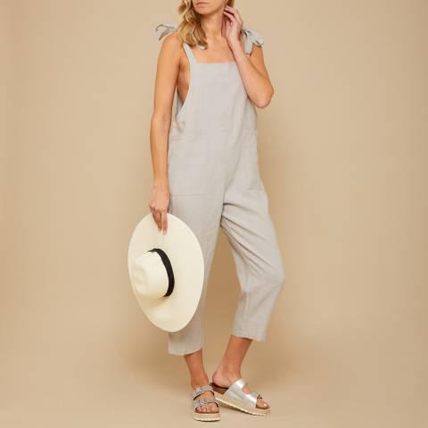 N°· Eleven Grey Linen Jumpsuit