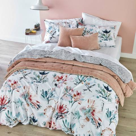Christy Wild Blooms Double Duvet Cover Set, Berry