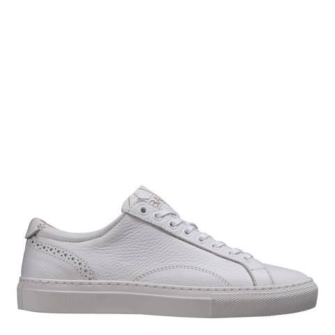 Barker White Grain Leather Isla Sneaker