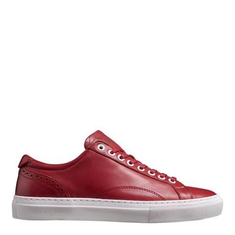 Barker Red Leather Isla Sneaker