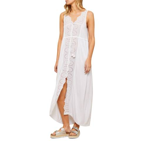N°· Eleven White Jersey Broderie Anglaise Cover Up