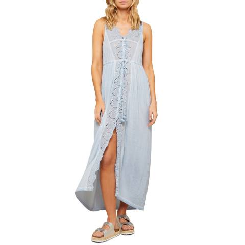 N°· Eleven Soft Blue Jersey Broderie Anglaise Cover Up