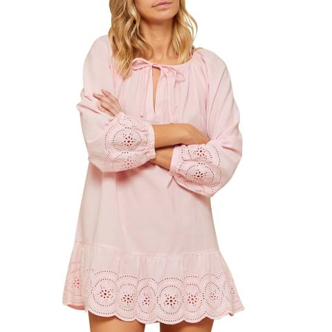 N°· Eleven Soft Pink Cotton Broderie Anglaise Tunic