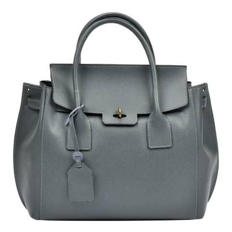 Luisa Vannini Grey Leather Top Handle Bag