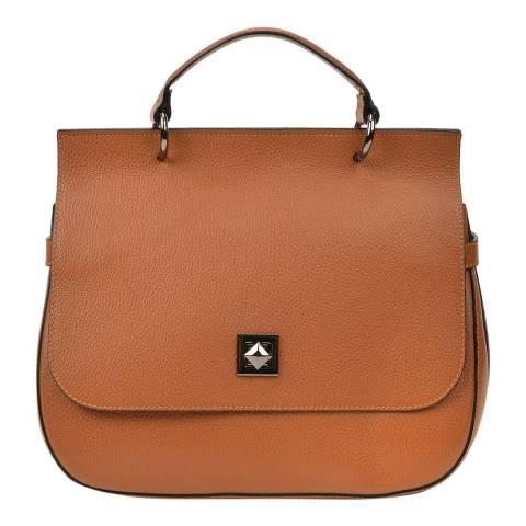 Renata Corsi Cognac Leather Top Handle Bag
