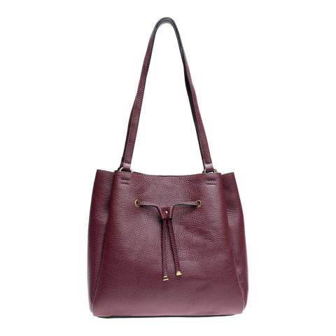 Mangotti Red Leather Shoulder Bag