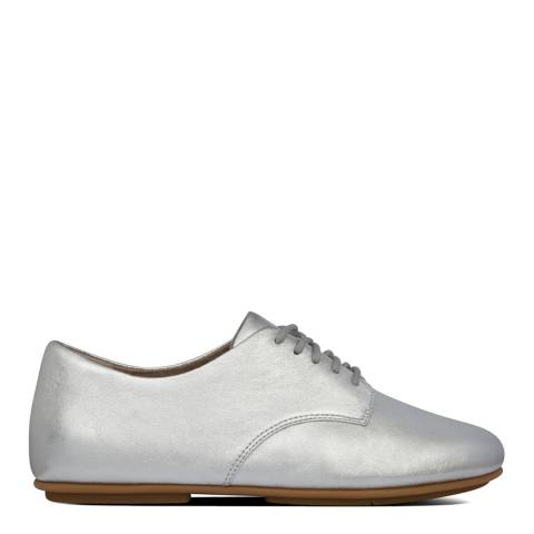 FitFlop Silver Adeola Leather Derby Shoes