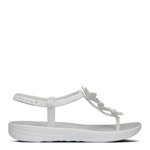 FitFlop Urban White Bella Iqushion Flower Sandals