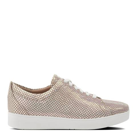FitFlop Bright White Mix Rally Exotic Sneakers