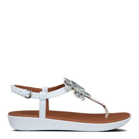 FitFlop Urban White Tia Corsage Back Strap Sandals