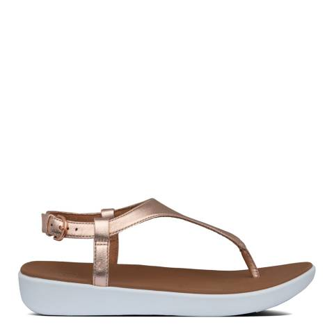 FitFlop Rose Gold Lainey Toe Thong Sandals