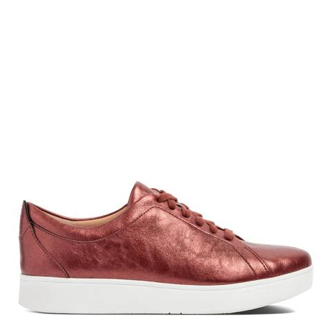 FitFlop Brick Red Rally Crinkle Shimmer Sneakers