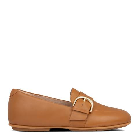 FitFlop Light Tan Lisbet D Buckle Leather Loafers