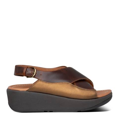 FitFlop Chocolate Brown Mix Myla Leather Sandals
