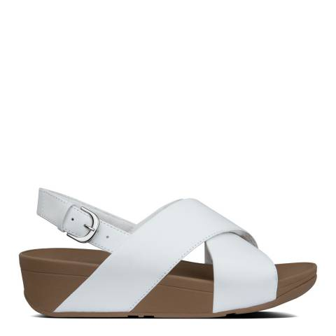 FitFlop Urban White Lulu Cross Back Strap Leather Sandals