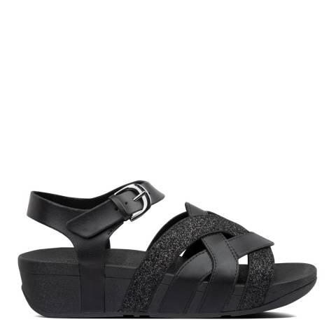 FitFlop All Black Erika Clog Glitter Sandal