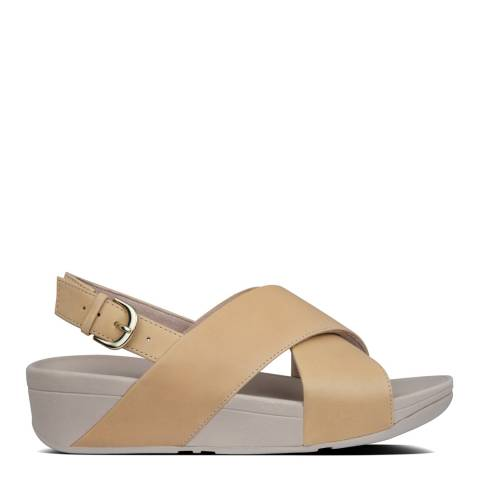 FitFlop Blush Lulu Cross Back Strap Leather Sandals