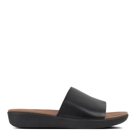 FitFlop Black Sola Leather Slides