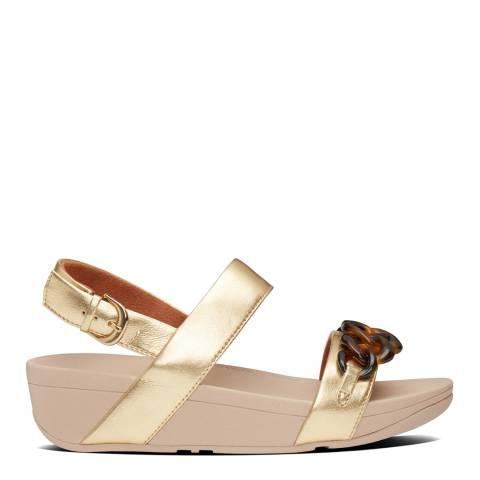 FitFlop Artisan Gold Lottie Tortoiseshell Chain Sandals