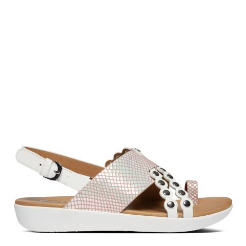 FitFlop Bright White Scallop Exotic Back Strap Sandals