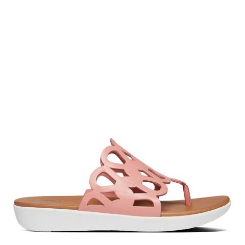 FitFlop Rose Pink Elodie Entwined Loops Toe Thong Sandals