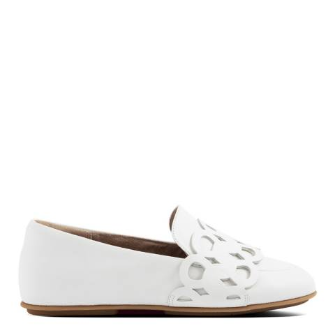 FitFlop Bright White Lena Entwined Loops Loafers