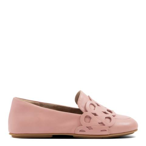 FitFlop Rose Pink Lena Entwined Loops Loafers