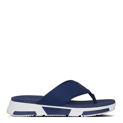 FitFlop Midnight Navy Sporty Logo Toe Thong Sandals