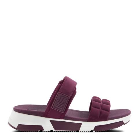 FitFlop Beetroot Haylie Quilted Cube Slides