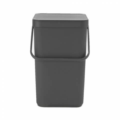 Brabantia Grey Sort & Go Waste bin, 25 litre