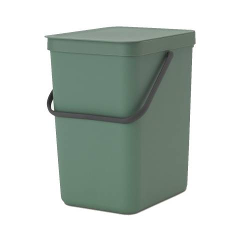 Brabantia Fir Green Sort & Go Waste bin, 25 litre