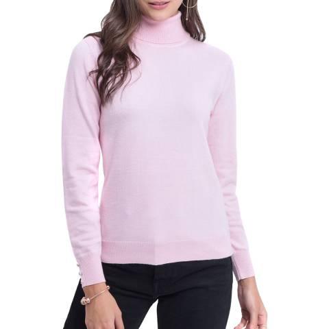 C & JO Pink Cashmere Blend Polo Jumper