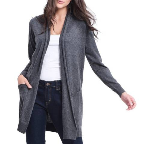 C & JO Grey Cashmere Blend Relaxed Cardigan