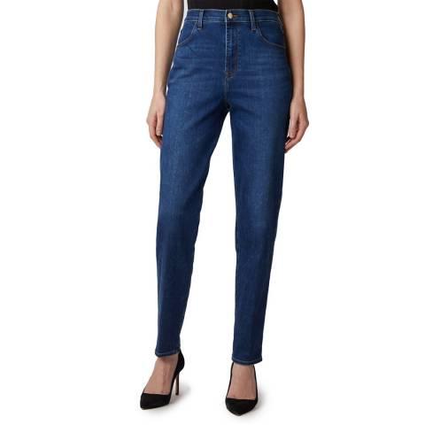 J Brand Navy Mia Tapered Stretch Jeans