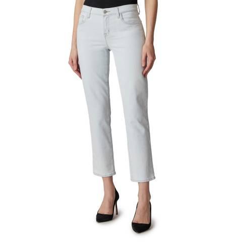 J Brand Pale Blue Adele Straight Stretch Jeans
