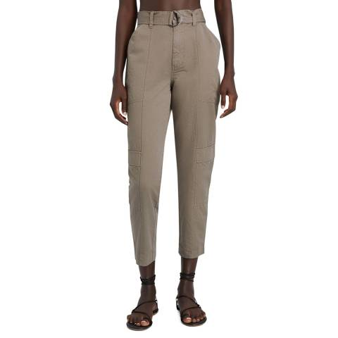 J Brand Taupe Athena Tapered Surplus Trousers