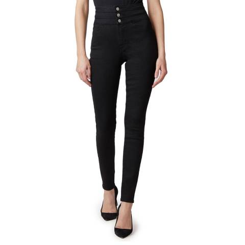 J Brand Black Annalie Skinny Button Stretch Jeans