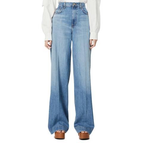 J Brand Blue Thelma Super Wide Leg Jeans