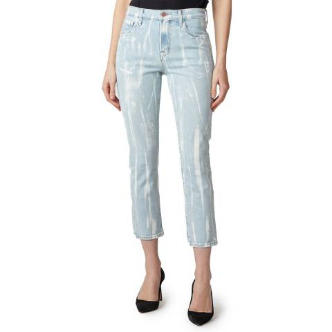 J Brand Light Blue Gigi Painted Cigarette Jeans