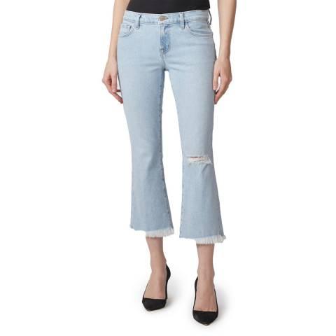 J Brand Light Blue Selena Destruct Boot Cut Jeans