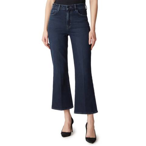 J Brand Petrol Julia Flared Cropped Stretch Jeans