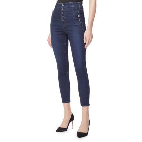J Brand Navy Natasha High Skinny Stretch Jeans