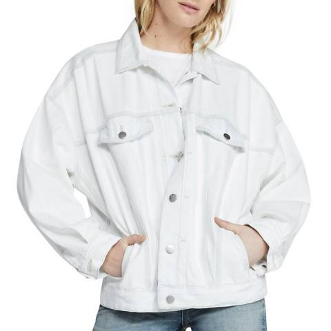 J Brand White Drew Denim Jacket