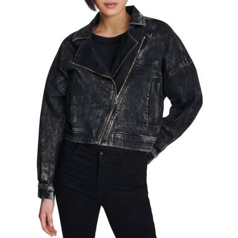 J Brand Black Andie Denim Jacket