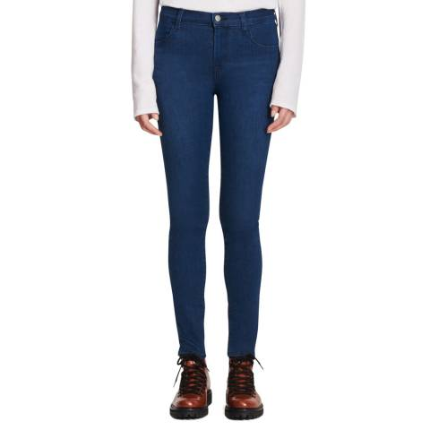 J Brand Navy Maria Classic Skinny Stretch Jeans