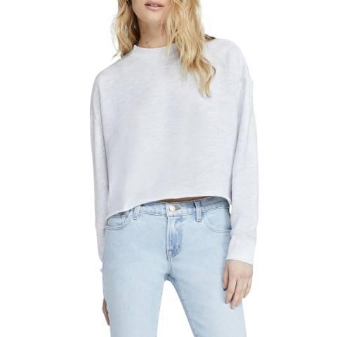 J Brand White Wendy Cotton Blend Sweatshirt