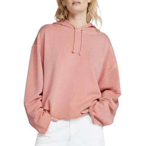 J Brand Pink Carissa Cotton Hoodie