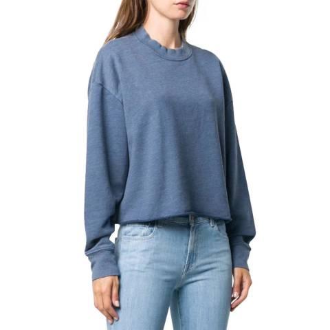 J Brand Blue Wendy Cotton Blend Sweatshirt