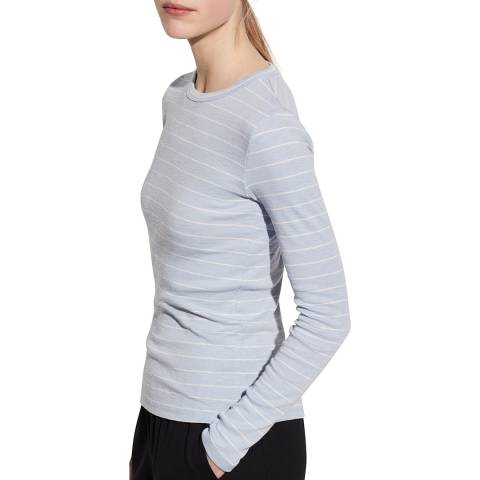 Vince Blue Chalk Stripe Crew Top