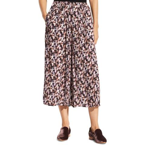Vince Multi Painted Floral Pleated Culotte